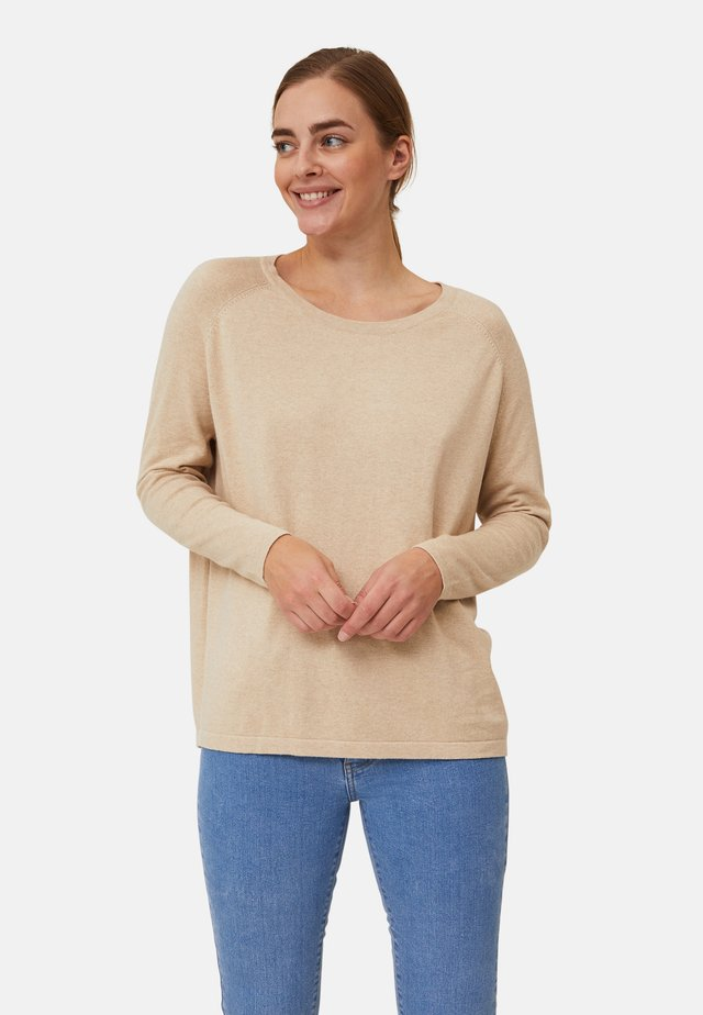 Jumper - light beige melange