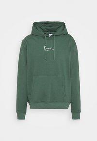 UNISEX SMALL SIGNATURE HOODY  - Hoodie - darkgreen