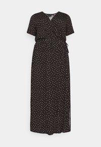 WRAP SPOT  - Maxi dress - black/white
