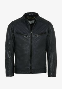 camel active - Leather jacket - navy - 5