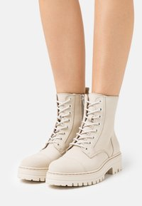 Steven New York - HAVARLY - Lace-up ankle boots - beige - 0