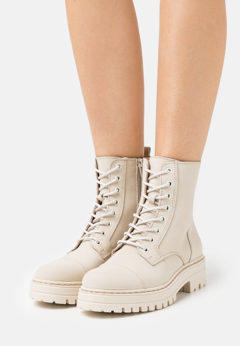 Steven New York - HAVARLY - Lace-up ankle boots - beige