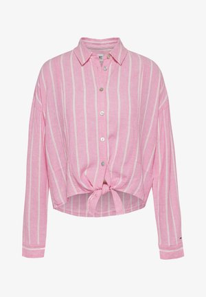 TJW RELAXED FRONT KNOT  - Button-down blouse - pink