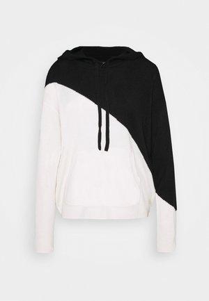 ONLAUBREE LOOSE HOODIE - Sweat à capuche - black/white