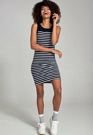 BELLE-ILE - Jersey dress - rich navy/blanc