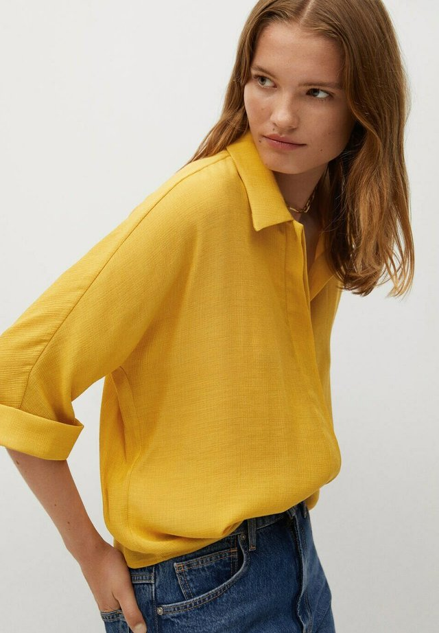 SAM-H - Button-down blouse - mostaza