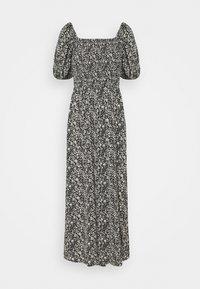 Missguided Tall - MILKMAID SHIRRED BUST MIDI FLORAL - Maxi dress - black - 1