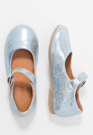 FIONAS BUCKLE NARROW FIT - Ankle strap ballet pumps - light blue