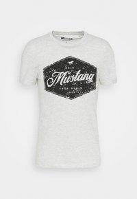 AARON - Print T-shirt - light grey melange