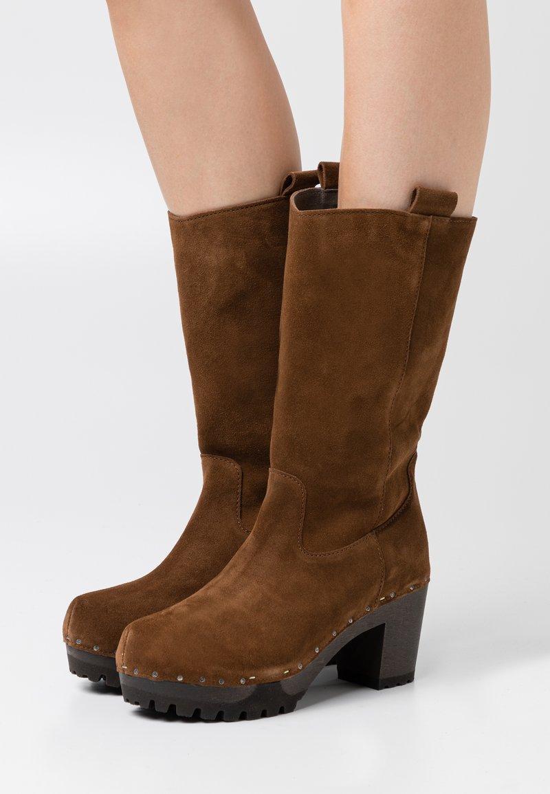 Softclox - Platform boots - brown
