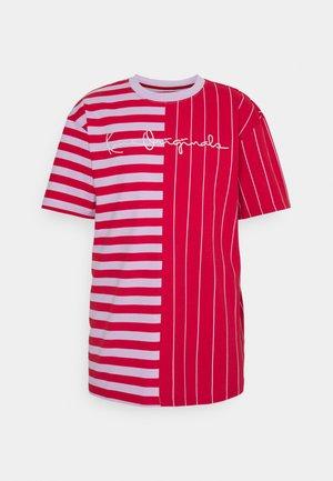 ORIGINALS BLOCK STRIPE TEE UNISEX - Print T-shirt - red