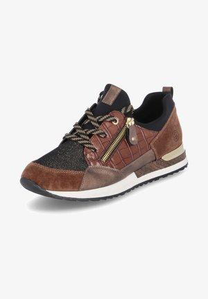 Sneakers laag - braun-schwarz