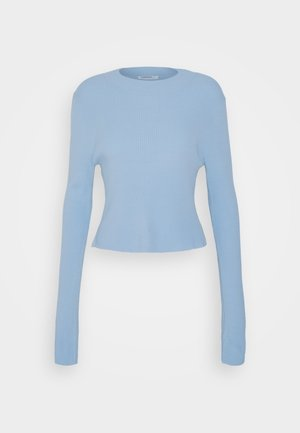 OPEN BACK JUMPER - Strikkegenser - powder blue