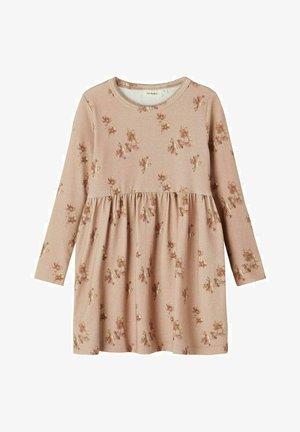 PRINT - Gebreide jurk - almondine