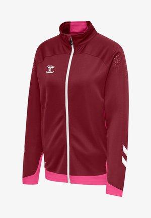 HML LEAD  - Zip-up sweatshirt - biking red