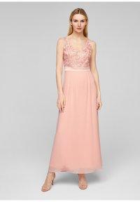 s.Oliver BLACK LABEL - GEBLOEMDE KANT - Maxi dress - spring rose - 4