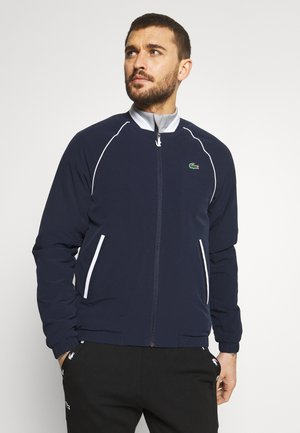 GOLF JACKET - Bomberjacka - navy blue/silver chine white