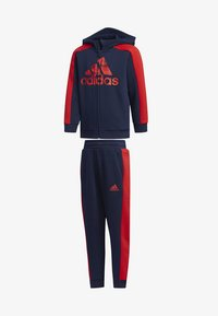 adidas Performance - GRAPHIC HOODIE SET - Tracksuit - blue - 0