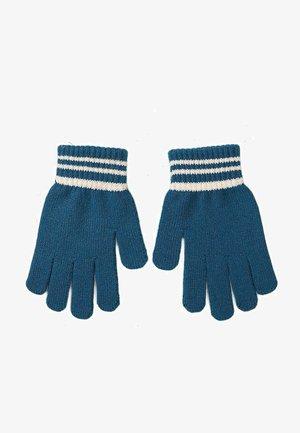 Handschoenen - turquoise white