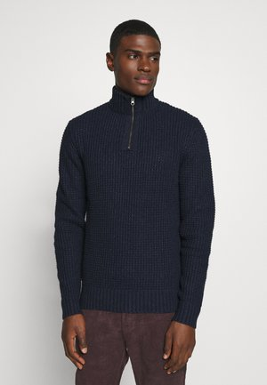 Maglione - mottled dark blue