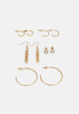 ONLASTRID EARRINGS 5 PACK - Náušnice - gold-coloured