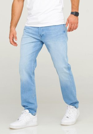 JJIMIKE JJARIS - Straight leg jeans - light blue denim