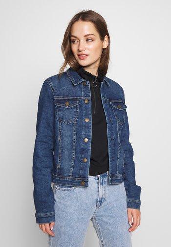 ONLWESTA LIFE JACKET  - Denim jacket - dark blue denim