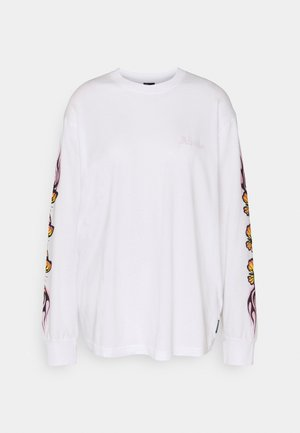 FLAMING BUTTERFLY - Long sleeved top - white