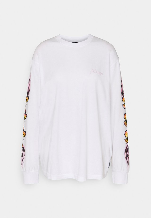 FLAMING BUTTERFLY - Longsleeve - white