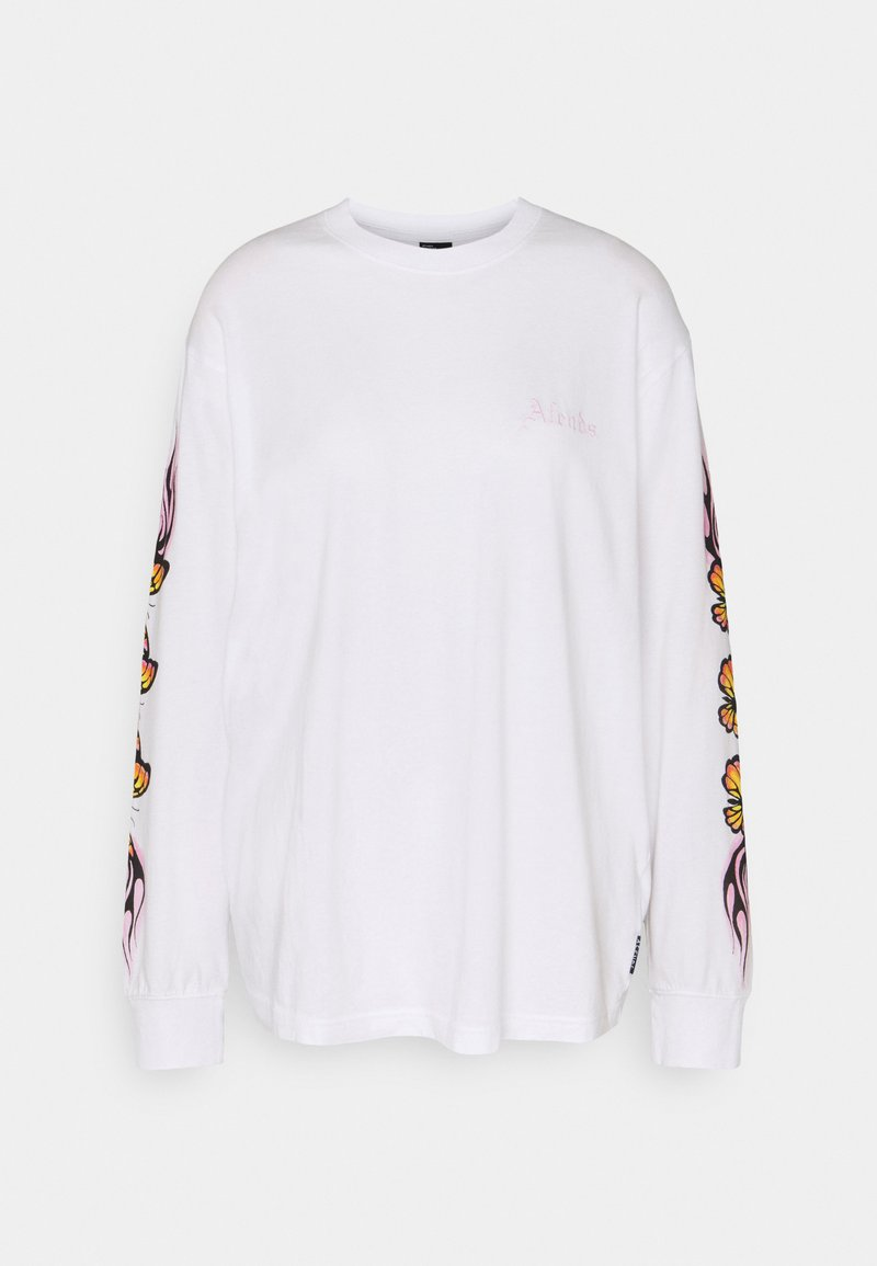 Afends - FLAMING BUTTERFLY - Long sleeved top - white