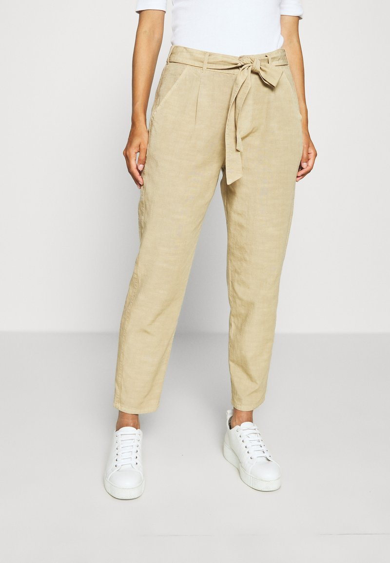 Opus - MAYLA - Trousers - natural beige