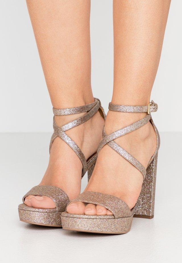 CHARLIZE PLATFORM - Sandaler med høye hæler - multicolor