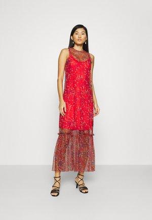 THE DRESS - Robe longue - confetti red