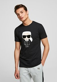 KARL LAGERFELD - KARL IKONIK - Print T-shirt - black - 0