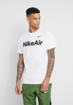 AIR TEE - Print T-shirt - white/black