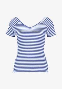 ONLY Petite - ONYLABELLA V NECK - Basic T-shirt - cloud dancer/dazzling blue - 3