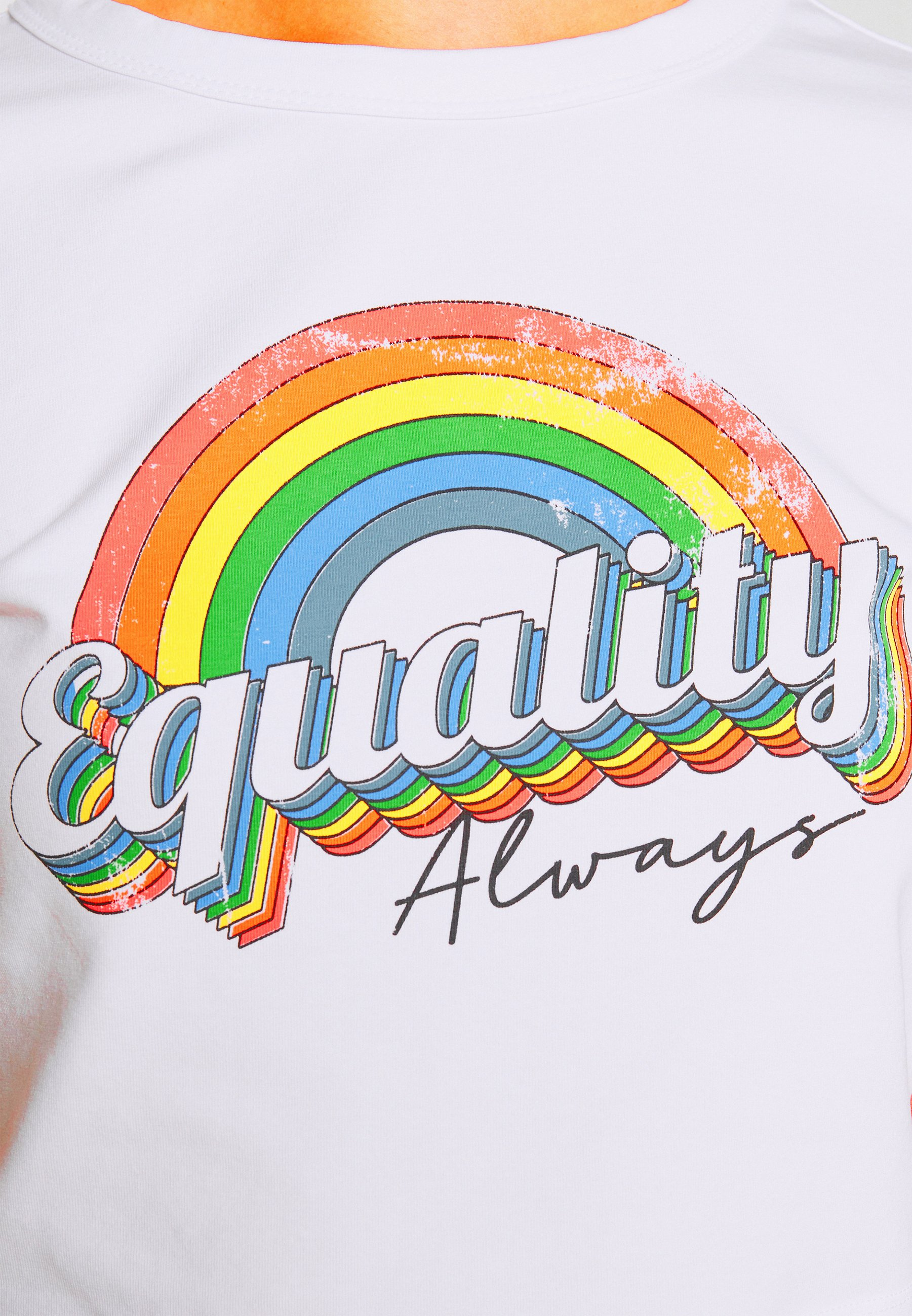 Donna EQUALITY ALWAYS CAP SLEEEVE CROP - T-shirt con stampa