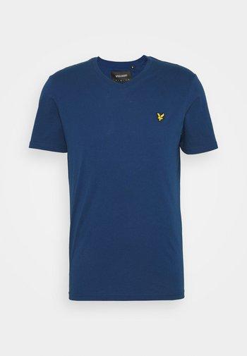 V NECK - T-shirt - bas - indigo