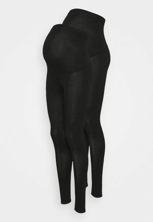 OVERBUMP LEGGING - Leggings - Trousers - black