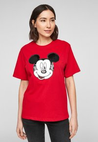 s.Oliver - KURZARM - Print T-shirt - red - 0