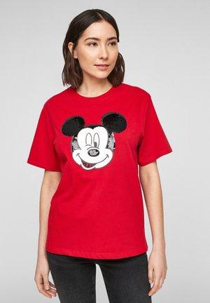 KURZARM - Print T-shirt - red