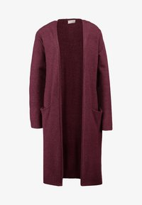 Vila - VIRIL LONG CARDIGAN  - Cardigan - fig/melange - 4