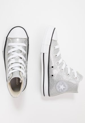 CHUCK TAYLOR ALL STAR GLITTER - Sneaker high - silver/natural ivory/white