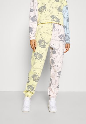 BEAR PANEL - Tracksuit bottoms - multi