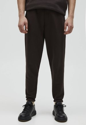 Tracksuit bottoms - mottled brown