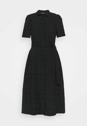 BROIDERIE - Shirt dress - black