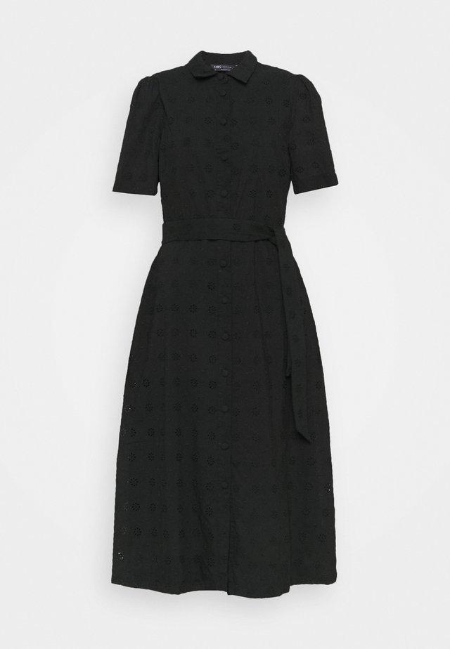BROIDERIE - Sukienka koszulowa - black