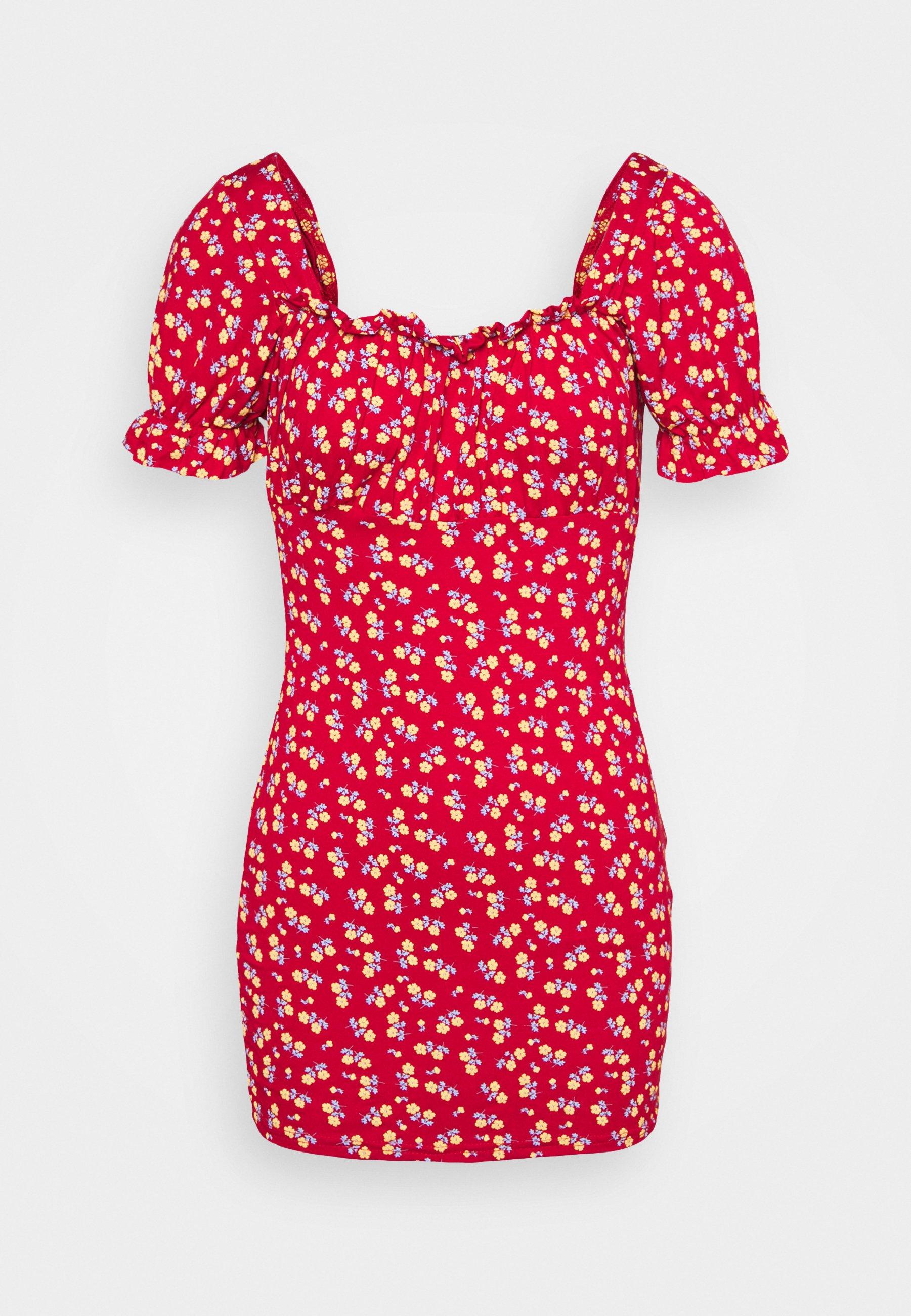 Women DITSY FRILL DRESS - Jersey dress