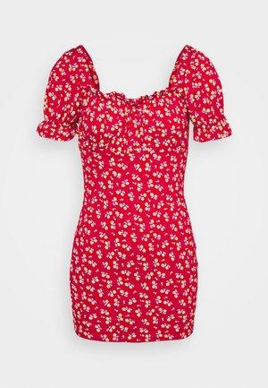 DITSY FRILL DRESS - Jerseykjole - red