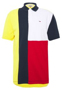 Tommy Jeans - COLORBLOCK - Polo shirt - star fruit yellow/multi - 0